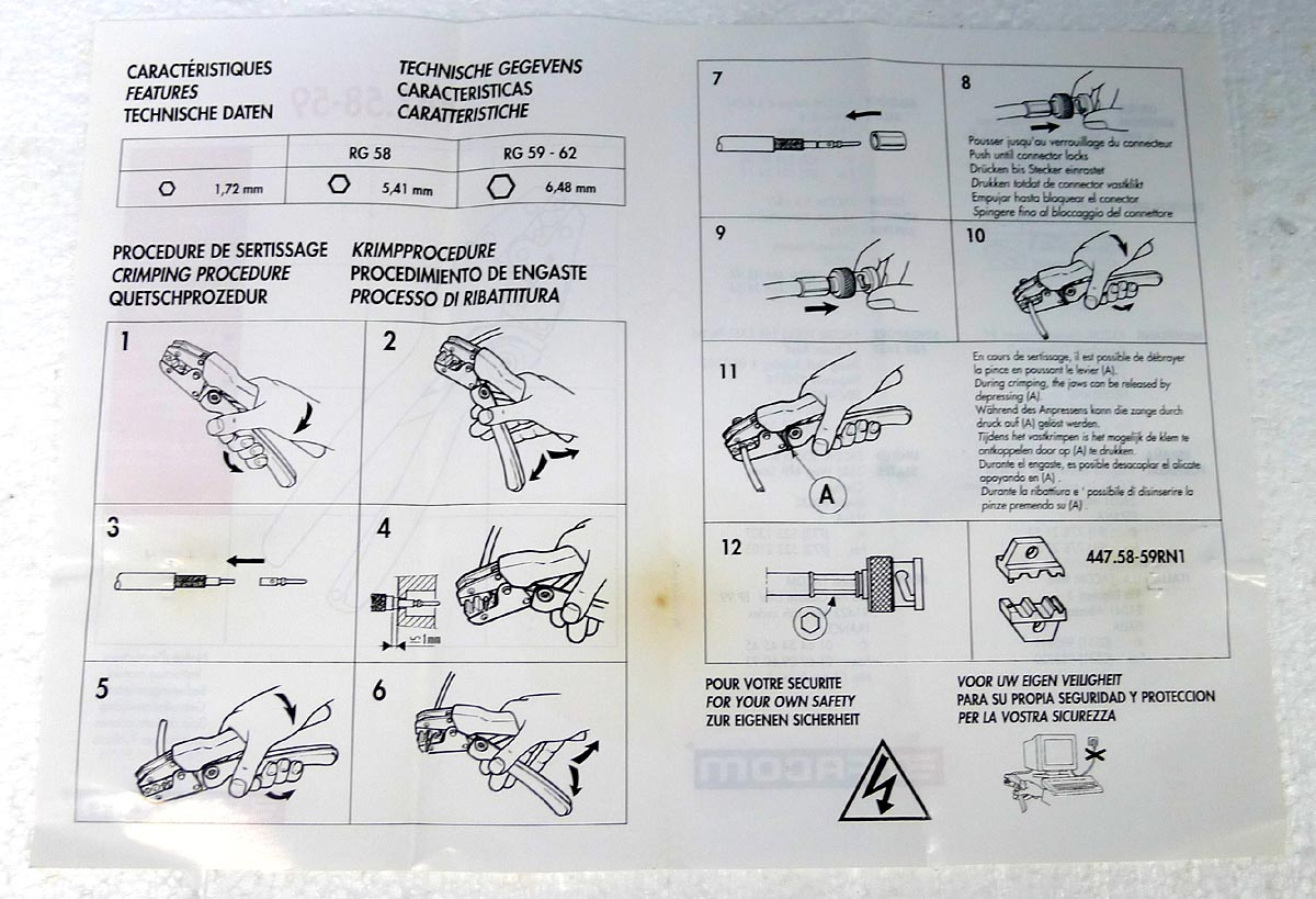 crimping pliers for bnc connectors. Black Bedroom Furniture Sets. Home Design Ideas