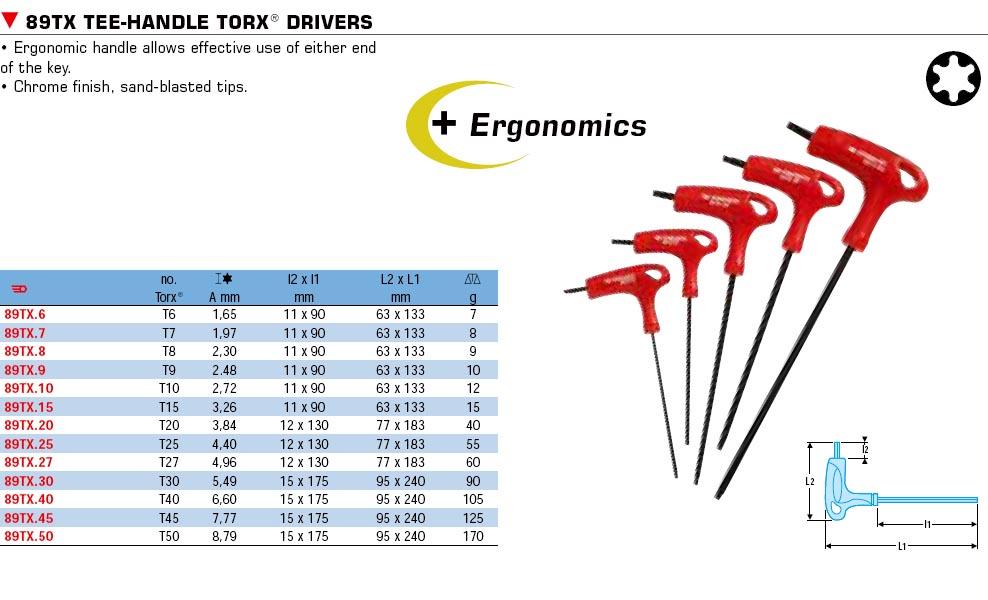 T Handle Torx Driver T27 89tx 27