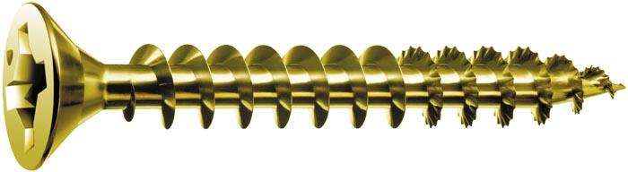Spax Flat Head Yellow Zinc Screws