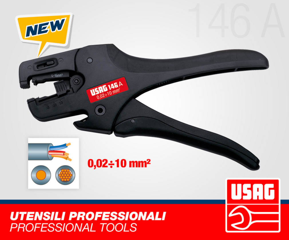 Automatic Cutting Wire Stripper (32-8 AWG)(793936-USAG)