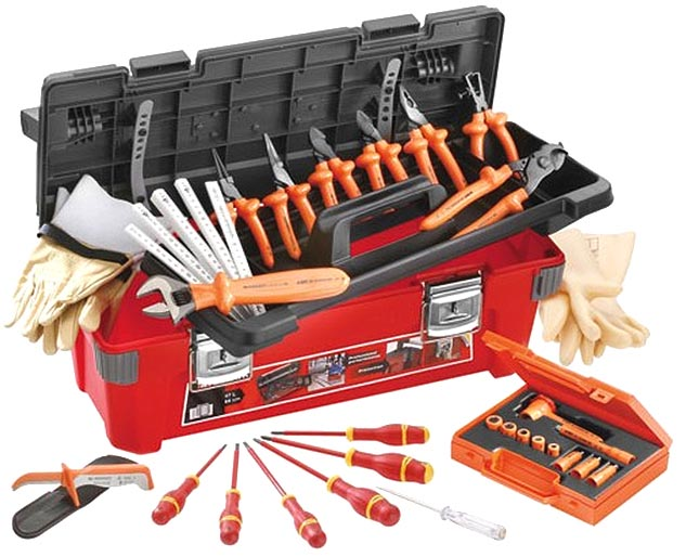 Insulated Electricians Tool Set W Hd Storage Box 28pc