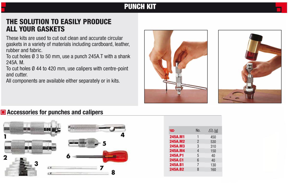 Punch Set Maintenance Kit 245 J2a