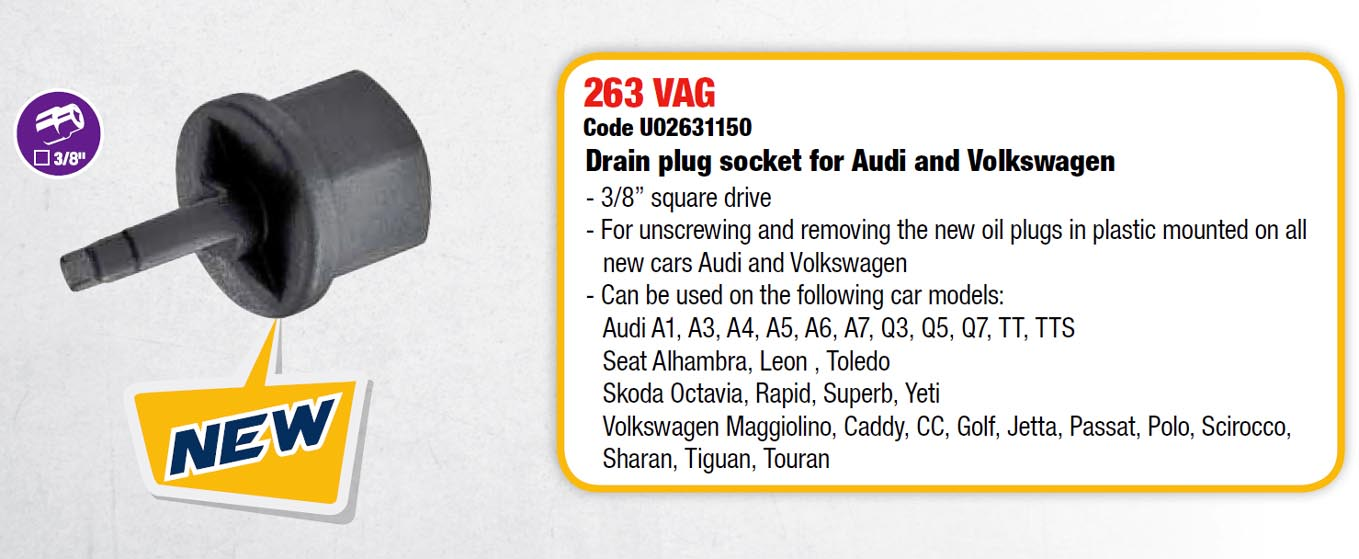 Drain Plug Socket for VW and Audi (D 1VAG-B)(USAG)