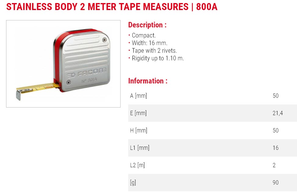 Stainless Steel Body Tape Measure