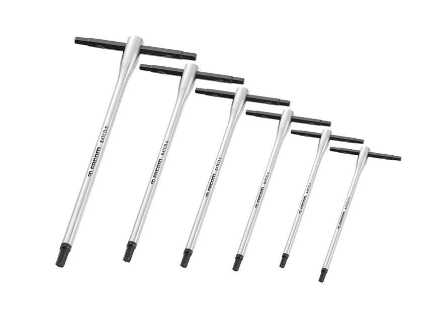 Sliding T Handle Hex Key Set 6pc Facom 84tcd J6