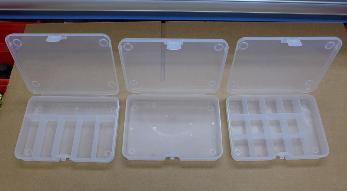 Plastic Storage Boxes for Small Parts set of 3BV21BP