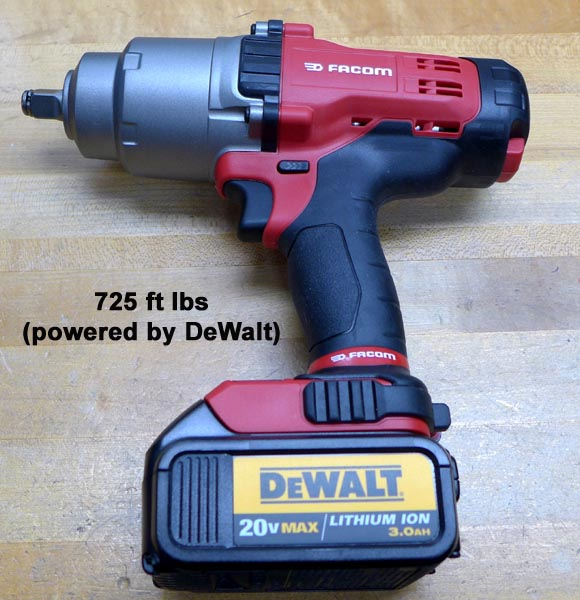 1 2 Quot Cordless Impact Wrench 20v 4ah 120v 725 Ft Lbs