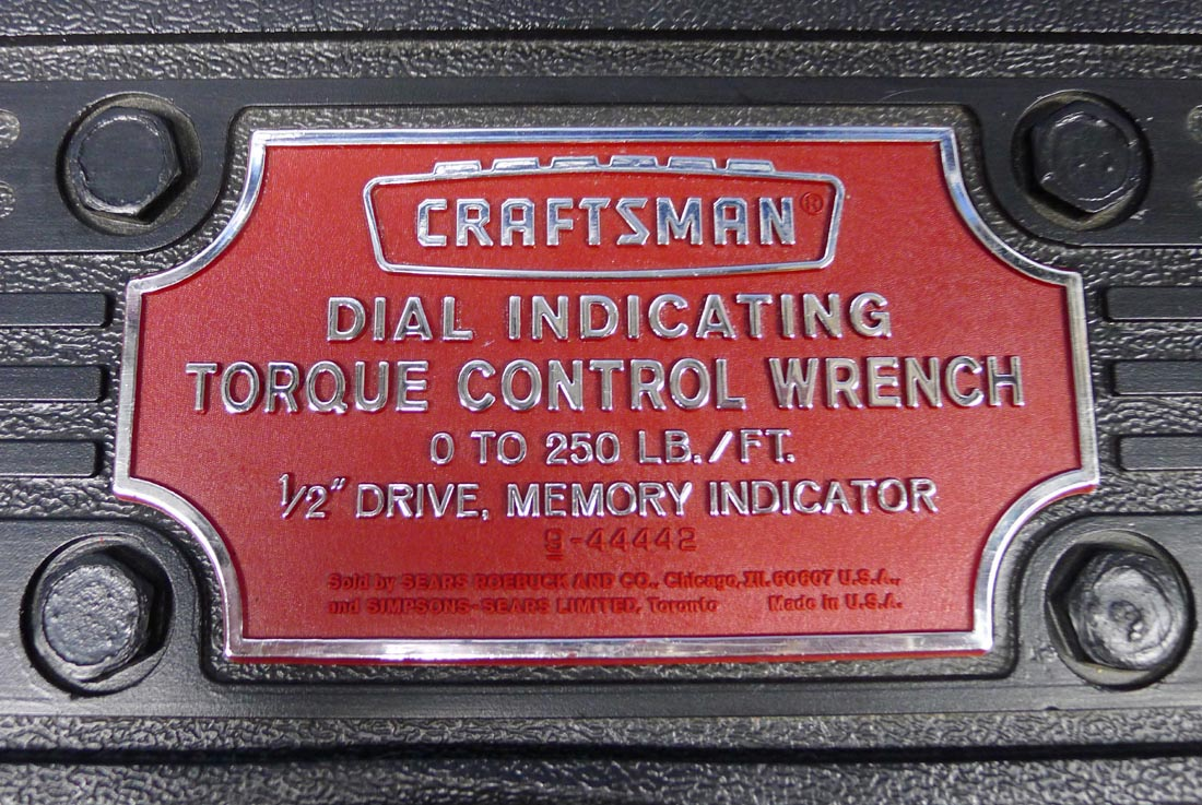 Craftsman 1 2 Quot Drive Dial Indicator Torque Wrench 9 44442