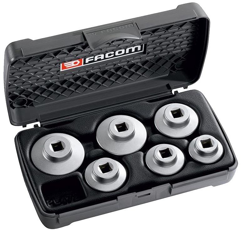 Oil Filter Cap Socket Set 6pc W Case Low Profile D 163