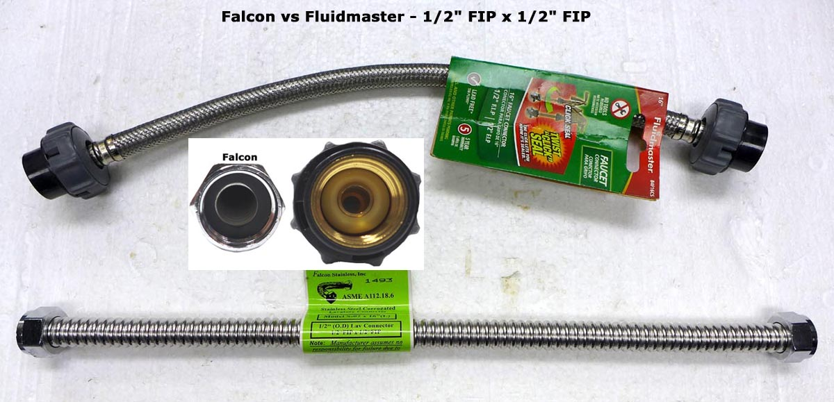 Stainless Steel Flexible Water Connector (FIPxFIP)-1/2x16\