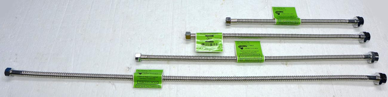 Stainless steel faucet supply hose quot fip comp