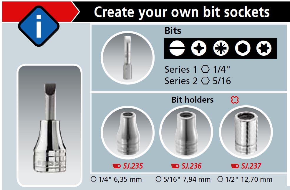 5//16 Bit Holder Socket 3//8 Drive